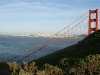 Golden Gate, w tle San Francisco