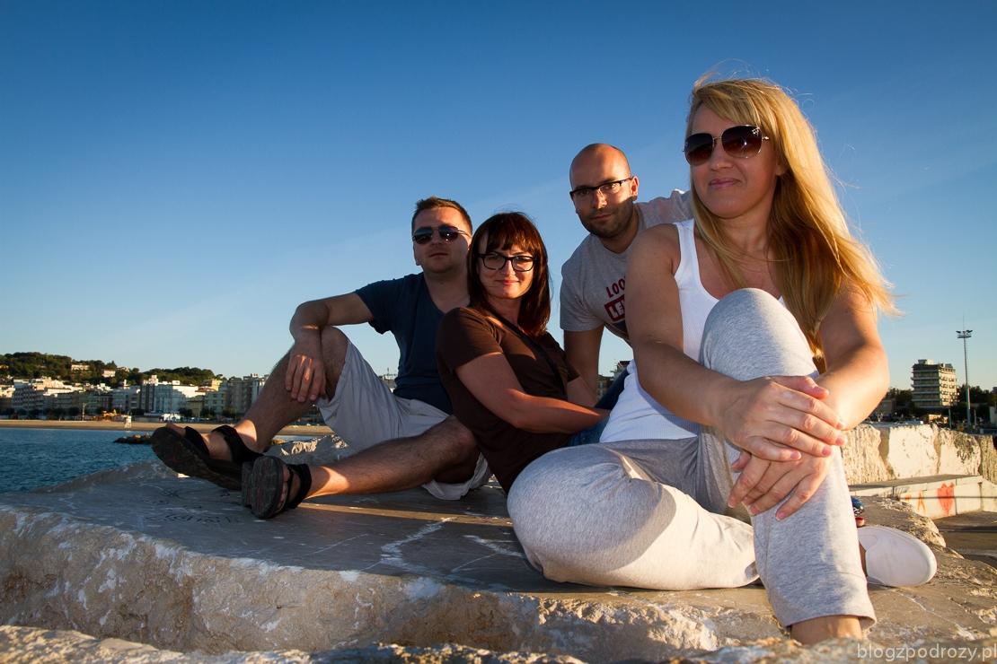 Nasza czwórka w miejscowości Cattolica, Włochy