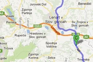 Słowenia – objazd autostrady przez Lenart i Ptuj